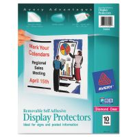 Avery Top-Load Display Sheet Protectors, Letter, Heavyweight, Diamond Clear, 10/Pack AVE74404