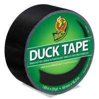 "Duck Colored Duct Tape, 9 mil, 1.88"" x 20 yds, 3"" Core, Black DUC1265013"