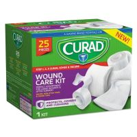 Curad Wound Care Kit: Gauze, Non-Stick Pads and Paper Tape MIICUR1625