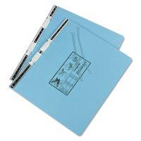 Universal Pressboard Hanging Data Binder, 14 7/8 x 11 Unburst Sheets, Light Blue UNV15441