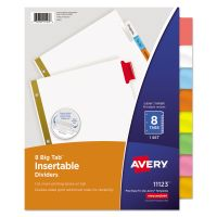 Avery Insertable Big Tab Dividers, 8-Tab, Multi-color Tab, Letter, 1 Set AVE11123