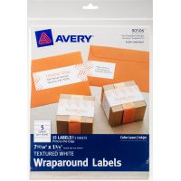 "Textured Wraparound Labels 7-17/20""X1-3/4"" 15/Pkg NOTM436327"