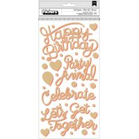 """Confetti Wishes Thickers Stickers 5.5""""X11"""" 2/Pkg NOTM366008"""