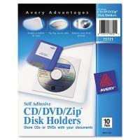 Avery Self-Adhesive Media Pockets, 10/Pack AVE73721