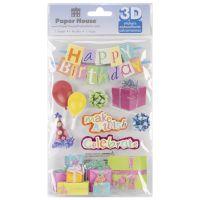"""Paper House 3D Stickers 4.5""""x8.5"""" NOTM207287"""