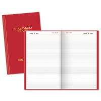 AT-A-GLANCE Standard Diary Recycled Daily Reminder, Red, 4 1/8 x 6 5/8, 2019 AAGSD38513