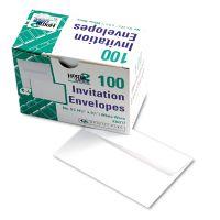 Quality Park Greeting Card/Invitation Envelope, #5 1/2, 4 3/8 x 5 3/4, White, 100/Box QUA36217