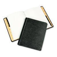 Wilson Jones Corp Record/Minute Book Complete Outfit, Black, 75 Unruled Pages, 8 1/2 x 11 WLJ039900