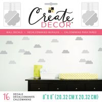 """DCWV Create Decor Removable Wall Decals 8""""X8"""" NOTM539780"""