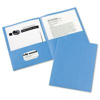 Avery Two-Pocket Folder, 40-Sheet Capacity, Light Blue, 25/Box AVE47986