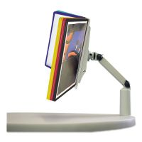 Durable SHERPA Swivel Arm Reference System, 10 Panels, 10 1/2 x 11 x 12 3/4, Gray DBL556900