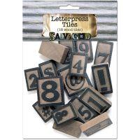 Vintage Collection Wood Letterpress Blocks 5mm 16/Pkg NOTM224981