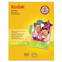 Kodak Photo Paper, 6.5 mil, Glossy, 8-1/2 x 11, 50 Sheets/Pack KOD1213719