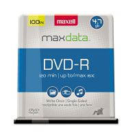 Maxell DVD-R Discs, 4.7GB, 16x, Spindle, Gold, 100/Pack MAX638014