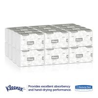 Kleenex Slimfold Paper Towels, 7 1/2 x 11 3/5, 1-Ply, White, 90 Sheets/Pack, 24 Packs/Carton KCC04442