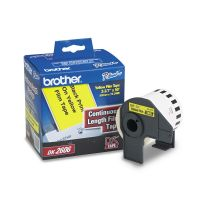 """Brother Continuous Film Label Tape, 2-3/7"""" x 50 ft Roll, Yellow BRTDK2606"""