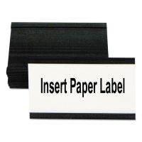 "MasterVision Magnetic Card Holders, 3""w x 1 3/4""h, Black, 10/Pack BVCFM2630"