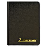 Adams Account Book, 2 Column, Black Cover, 80 Pages, 7 x 9 1/4 ABFARB8002M