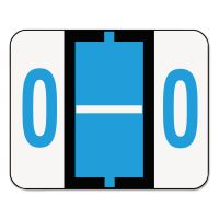 Smead A-Z Color-Coded Bar-Style End Tab Labels, Letter O, Blue, 500/Roll SMD67085