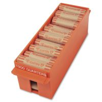 MMF Industries Porta-Count System Extra-Capacity Rolled Coin Plastic Storage Tray, Orange MMF212072516