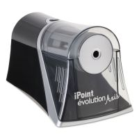 Westcott iPoint Evolution Axis Pencil Sharpener, Black/Silver, 4 1/4 w x 7d x 4 3/4h ACM15510
