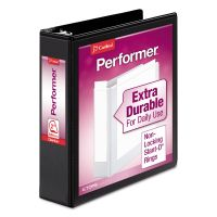 "Cardinal Performer ClearVue 3-Ring View Binder, 2"" Capacity, Slant-D Ring, Black CRD17501"