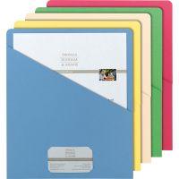 Smead Organized Up Slash Jackets, Letter, 11pt, Assorted, 25/Pack SMD75425