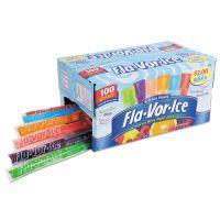 Fla-Vor-Ice Fruity Freezer Bars, Assorted Flavors, 1.5 oz, 100/Box JLS92100
