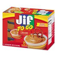 Jif To Go Spreads, Creamy Peanut Butter, 1.5 oz Cup, 8/Box SMU24136