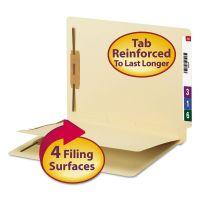 Smead Manila End Tab Classification Folder, 1 divider, Straight Cut Tab, 50/BX SMD34220