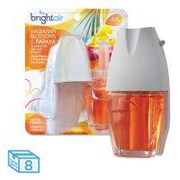 BRIGHT Air Electric Scented Oil Air Freshener Warmer/Refill, Hawaiian Blossoms/Papaya, 8/CT BRI900254