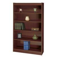 Safco Square-Edge 5-Shelf Veneer Bookcase SAF1504MHC