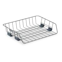 Fellowes Side-Load Wire Stacking Letter Tray, Wire, Black FEL62112