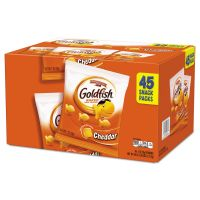 Pepperidge Farm Goldfish Crackers, Cheddar, 1 oz Bag, 45/Carton PPF1051900