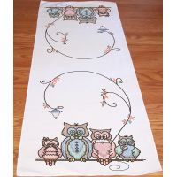 "Stamped Perle Edge Table Runner 15""X42"" NOTM052709"