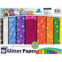 "ArtSkills Glitter Paper 9""X12"" 10/Pkg NOTM380838"