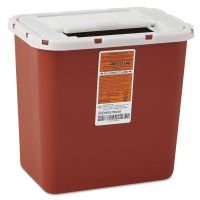 Medline Sharps Container, Freestanding/Wall Mountable, 8qt, 23 1/2 x 19 7/10 x 28, Red MIIMDS705202