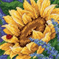 Jiffy Sunflower & Ladybug Mini Needlepoint Kit NOTM288247