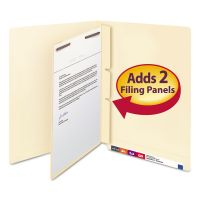 Smead Manila Self-Adhesive End/Top Tab Folder Dividers, 2-Sections, Letter, 100/Box SMD68027