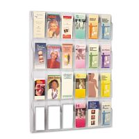 Safco Reveal Clear Literature Displays, 24 Compartments, 30w x 2d x 41h, Clear SAF5601CL