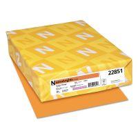 Astrobrights Color Cardstock, Smooth, 65lb, 8 1/2 x 11, Cosmic Orange, 250 Sheets WAU22851