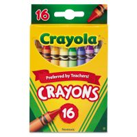 Crayola Classic Color Crayons, Peggable Retail Pack, 16 Colors CYO523016