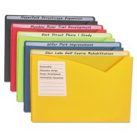 """C-Line Write-On Expanding Poly File Folders, 1"""" Exp., Letter, Assorted Colors, 25/BX CLI63060"""