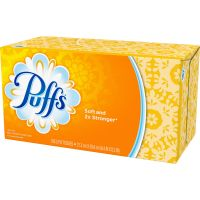 Puffs White Facial Tissue, 2-Ply, 180 Sheets, 24/Carton PGC87611CT