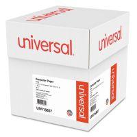 Universal Computer Paper, 20lb, 9-1/2 x 11, Letter Trim Perforation, White, 2300 Sheets UNV15807