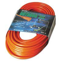 CCI Vinyl Extension Cord, 100ft, AWG 16/3, SJTW-A, Orange COC02309