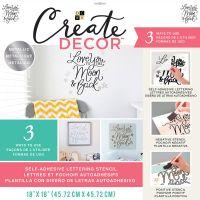 "DCWV Create Decor Self-Adhesive Lettering & Stencil 18""X18"" NOTM539818"