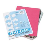 Pacon Tru-Ray Construction Paper, 76 lbs., 9 x 12, Assorted, 50 Sheets/Pack PAC103031