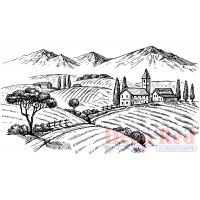 """Deep Red Cling Stamp 4.1""""X2.2"""" NOTM056620"""