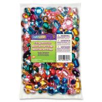 Chenille Kraft Gemstones Classroom Pack, Acrylic, 1 lbs., Assorted Colors/Sizes CKC3584
